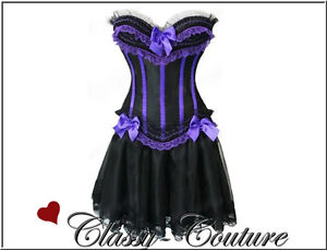 Moulin Rouge Burlesque Corset Costume Plus Size - 3XL/4XL/5XL/6XL Skirt Option