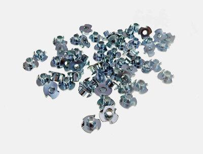 "50 Pack 1/4-20 T-nuts 5/16"" Barrel Zinc Plate 5/16"" Hole     3005C005"