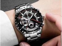 2018 NEW Luxury Watches Top Brand Full Steel Business Waterproof Watch