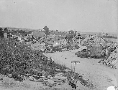 New 8x10 Photo- Destroyed French town Aizecourt-le-Bas after Battle of the Somme