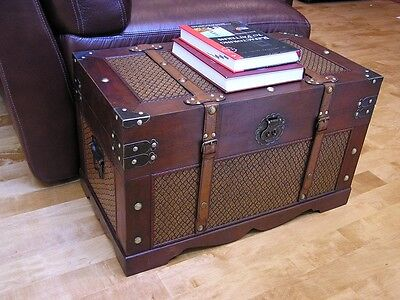 Boston Medium Wood Storage Trunk Wooden Hope ...