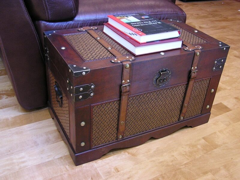 Boston Medium Wood Storage Trunk Wooden Hope Chest