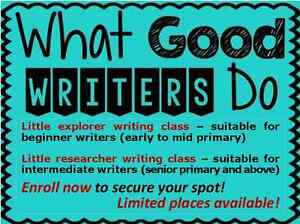 Writing classes and academic coaching classes for primary school Sunnybank Brisbane South West Preview