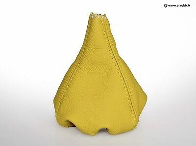 Cuffia cambio FIAT 500 Gialla cucitura gialla + anello ritenzione