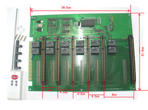 6 in 1 JAMMA extender PCB with remote control **BEST PRICE**