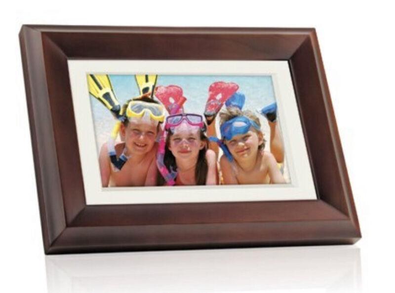 "GIINII GHA13P 10.1"" LCD DIGITAL PHOTO FRAME (BROWN)"
