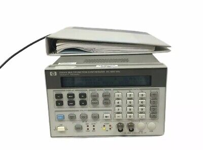 Hp Agilent 8904a Multifunction Synthesizer Dc-600 Khz With Service Manual6816