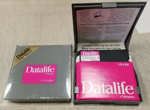 New Sealed VERBATIM 5.25 SS/DD Single Sided Double Density Floppy Disks SS DD