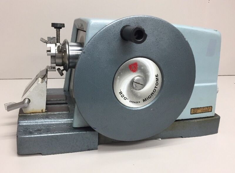 """Tissue-Tek """"820"""" Microtome, American Optical Rotary Spencer 820 Microtome"""