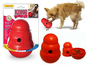 Original KONG Wobbler Treat Dispensing Dog Toy [Small]