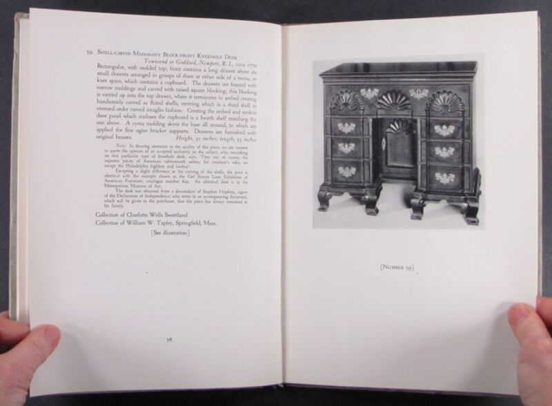 1932 Israel Sack Collection - Nice Antique American Colonial Furniture Catalog