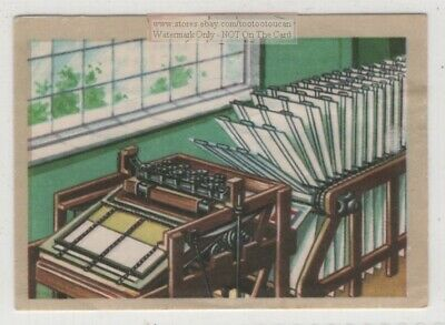 Early Silk Screen Printing Press And Process Vintage Ad Trade Card