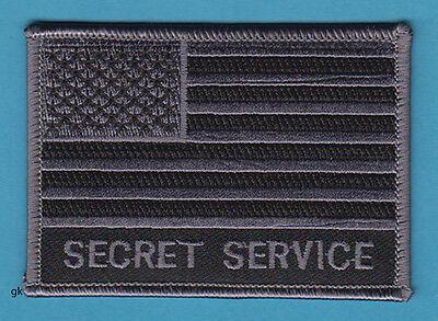 US SECRET SERVICE SUBDUED FLAG POLICE SHOULDER PATCH   (Gray / Black).