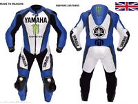 Yamaha white,blue and black leather suit! 1pc or 2pc!!