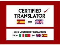 Certified Translator - Looking for Work