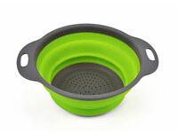 Foldable Collapsable Silicon Fruit Vegetable Washing Storage Basket Drainer Colander Kitchen