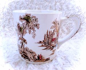 Vintage The Old Mill JOHNSON BROTHERS Bros England Ceramic Mug