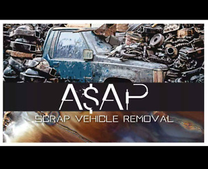 Scrap vehicle removal paying cash for your unwanted vehicle.