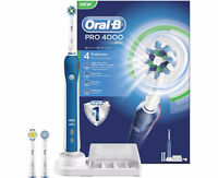NEW in box ORAL B PRO 4000 BLUE ELECTRIC TOOTHBRUSH
