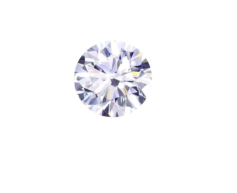 Diamond Natural Round Cut Loose 0.41 CT E Color I1 Clarity GIA Certified