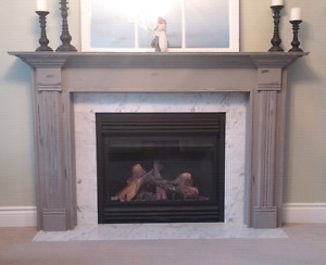 Custom Fireplace Mantel Surround Shelf