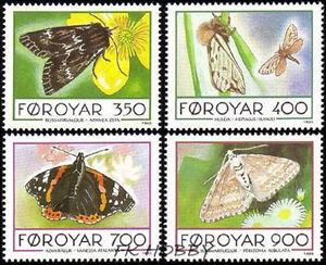 Denmark Faroe 1993 Mi 252-55 ** Motyl Butterfly Schmetterling Papillon Mariposa - Dabrowa, Polska - Denmark Faroe 1993 Mi 252-55 ** Motyl Butterfly Schmetterling Papillon Mariposa - Dabrowa, Polska