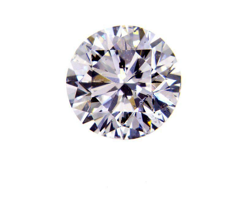 0.72 CT F SI2 Natural Real Loose Diamond GIA Certified Round Cut Brilliant