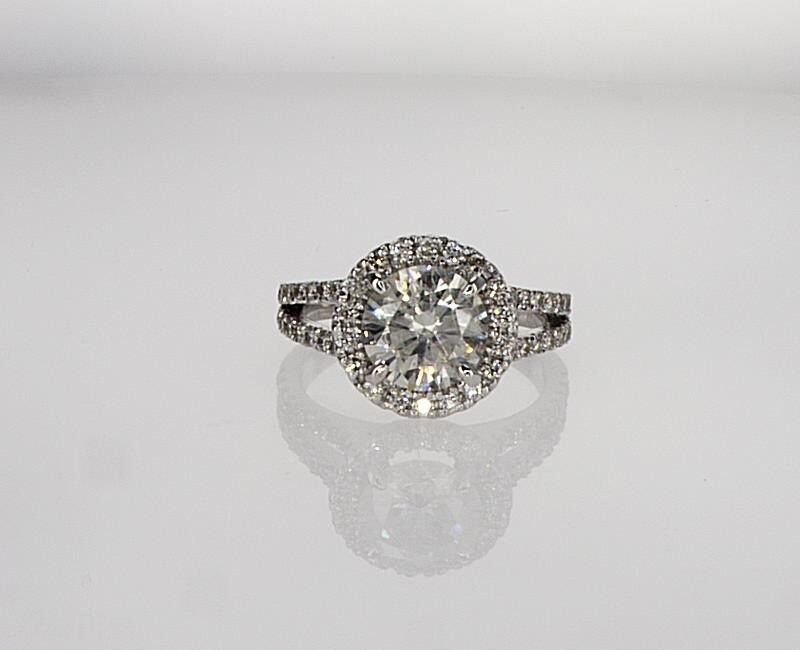 2.00 Ct Round D/vs1 Enhanced Diamond  Solitaire Engagement Ring 14k White Gold