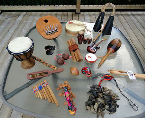 Collection d'instruments de musique . Je suis de Beloeil.