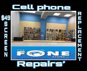 $49 SCREEN REPLACEMENT SAMSUNG/iPHONE $49 CELLPHONE REPAIR $49