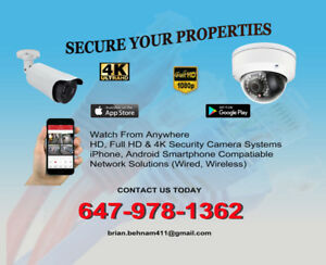 IP/Analog HD, Full HD, 4K UHD Security Camera & Network Services