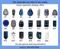 Computerized Key Fob, Fob Key Copies & Duplicates