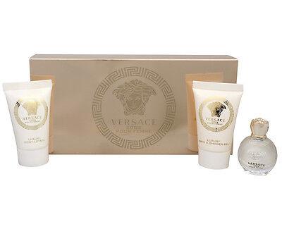 Versace Eros Pour Femme Mini set 5 ml Perfume 25 ml Shower Gel 25 ml Body Lotion