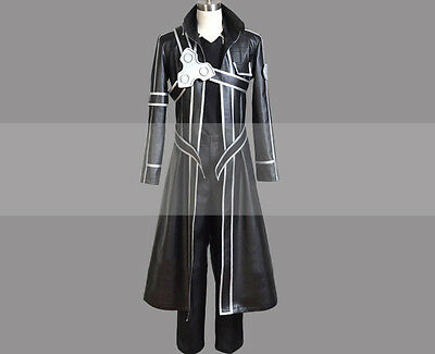 Custom Made Sword Art Online SAO Kirito Cosplay Costume Trench Coat Outfit Buy - Buy Costumes Online