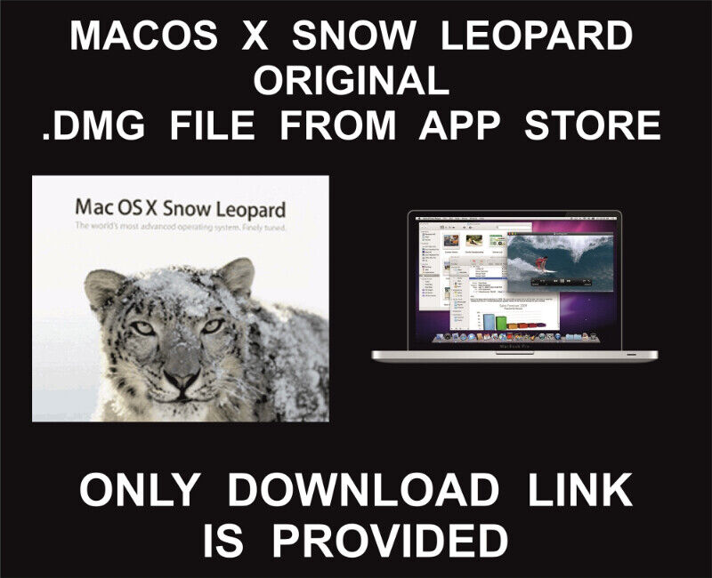 MacOS X Snow Leopard 10 6, DMG File, Download Link, Original, Fr