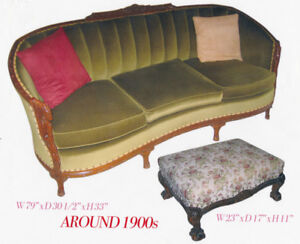 I AM SELLING A 4 PIECE VICTORIAN STYLE LIVING ROOM SET