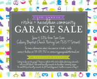 Hazeldean & Ritchie Community Garage Sale