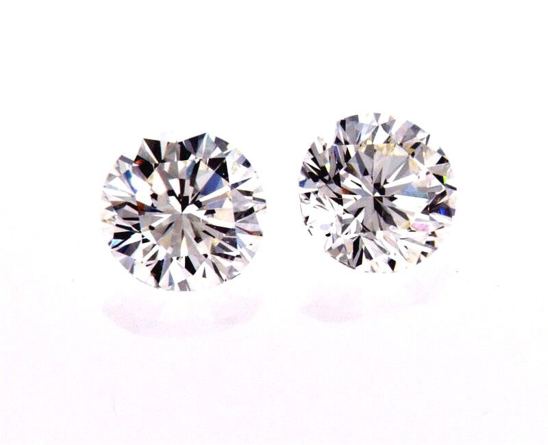 1.5 CT Diamond Studs Earrings 14K White Gold GIA Certified Natural Round Cut 2
