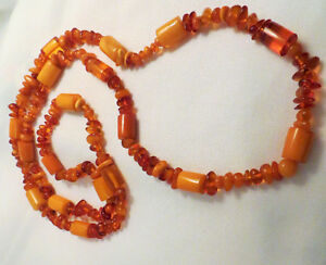 Genuine natural amber necklace