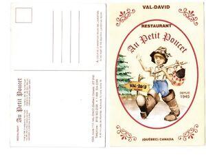 Carte postale : Restaurant AU PETIT POUCET à Val-David, Qué.