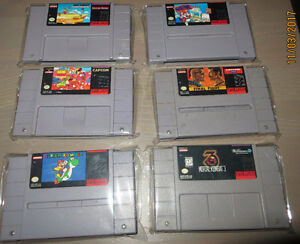 JEUX SUPER NINTENDO FINAL FANTASY III-SUPER MARIO WORLD-ETC