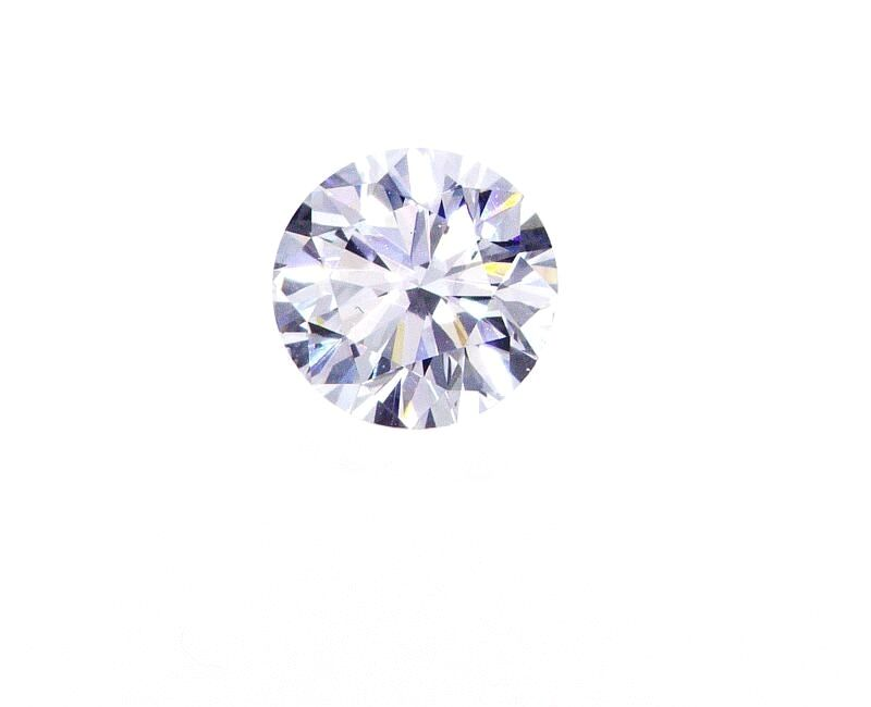 Diamond Natural Round Cut Loose 0.51 CT F Color SI1 Clarity GIA Certified