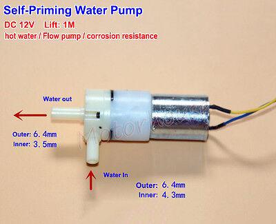Dc12v Self Priming Pump Hot Water Pump Flow Suction Pump Low Noise