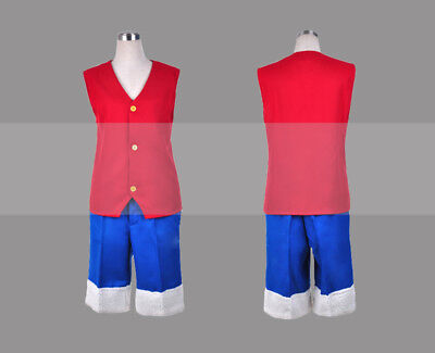 Custom Made One Piece Monkey D Luffy Cosplay Costume Outfit for Sale