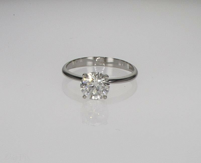 Diamond Solitaire Engagement Ring 2.00 Ct 2 Carat Round Cut D Si1 14k White Gold