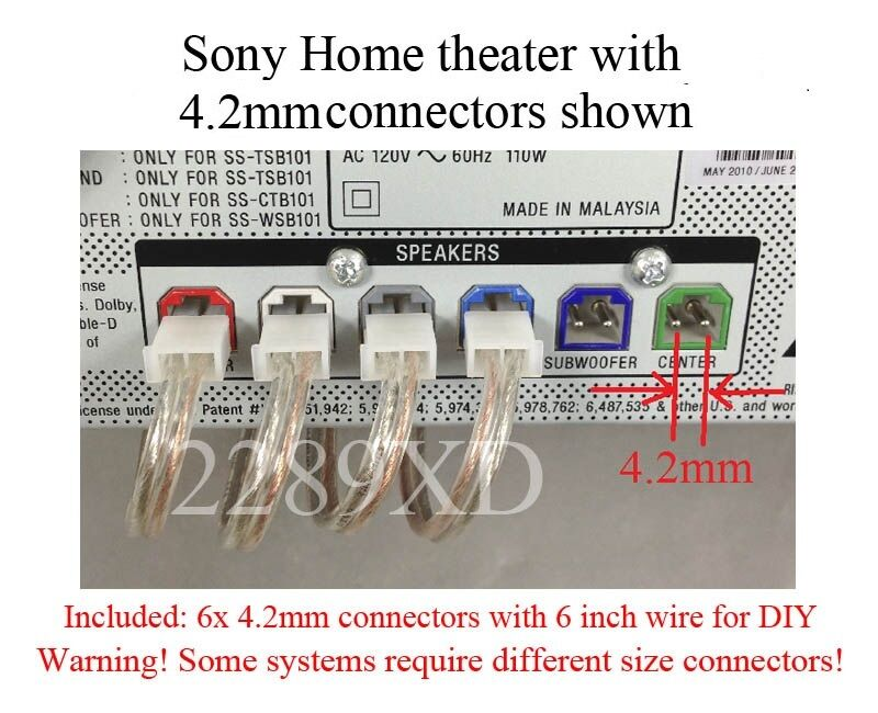 6 4.2mm-pitch speaker connectors/plugs made for select Sony home theater; Read!!