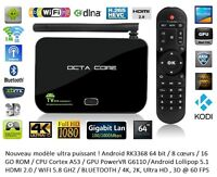 Android TV Box 64 bits 8 Coeurs 4K 16 Go Cortex A53 Wifi 5.8 Ghz