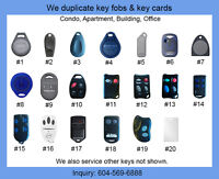 Condo Key Fob, Fob Key Copy Duplicates