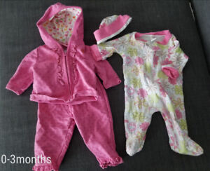 Baby girl clothing and accessories newborn, 0-3 months