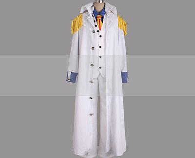 Custom Made One Piece Admiral Aokiji Kuzan Cosplay Costume Marine Coat Buy